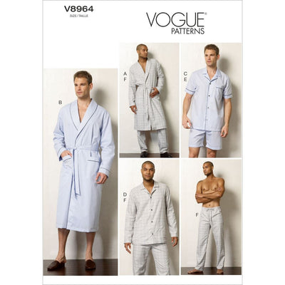 Vogue Pattern V8964 Mens Robe Top Shorts and Pants 8964 Image 1 From Patternsandplains.com