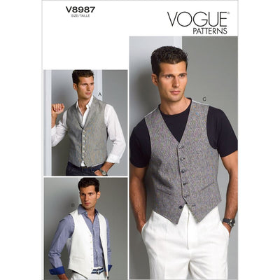 Vogue Pattern V8987 Mens Vest 8987 Image 1 From Patternsandplains.com