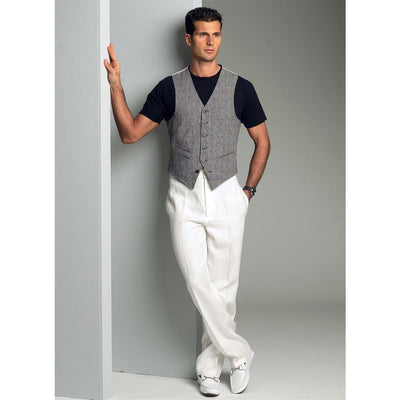 Vogue Pattern V8987 Mens Vest 8987 Image 3 From Patternsandplains.com.jpg