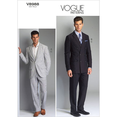 Vogue Pattern V8988 Mens Jacket and Pants 8988 Image 1 From Patternsandplains.com