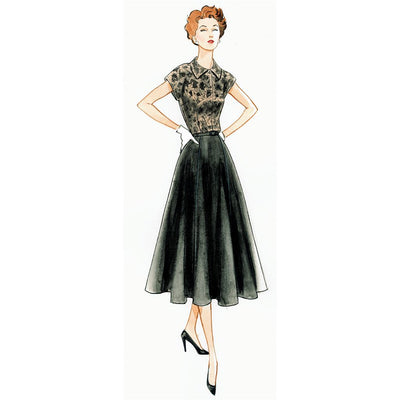Vogue Pattern V9000 Misses Dress and Belt 9000 Image 10 From Patternsandplains.com.jpg