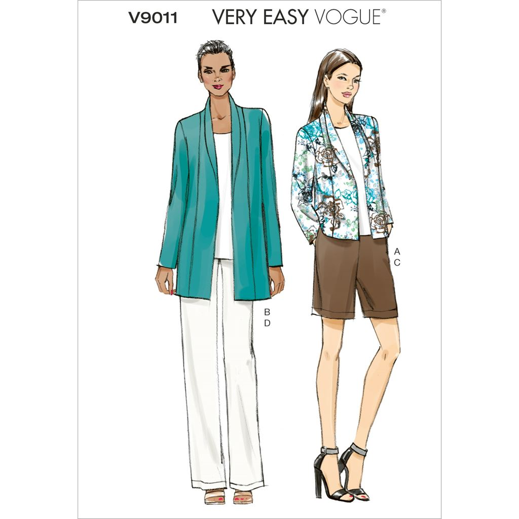 Vogue Pattern V9011 Misses Jacket Shorts and Pants 9011 Image 1 From Patternsandplains.com
