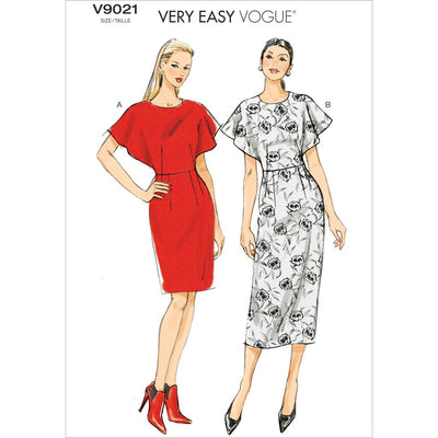 Vogue Pattern V9021 Misses Dress 9021 Image 1 From Patternsandplains.com