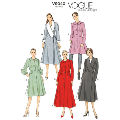Vogue Pattern V9040 Misses Coat 9040 Image 1 From Patternsandplains.com