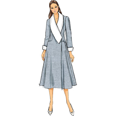 Vogue Pattern V9040 Misses Coat 9040 Image 9 From Patternsandplains.com.jpg