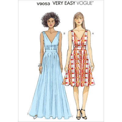 Vogue Pattern V9053 Misses Dress 9053 Image 1 From Patternsandplains.com