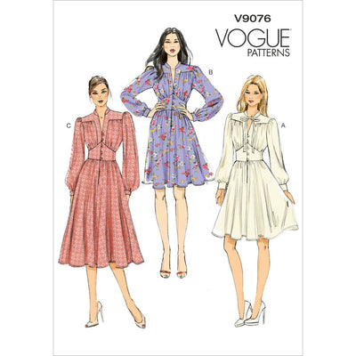 Vogue Pattern V9076 Misses Dress 9076 Image 1 From Patternsandplains.com