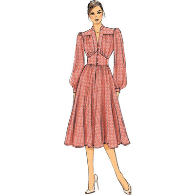 Vogue Pattern V9076 Misses Dress 9076 Image 4 From Patternsandplains.com.jpg