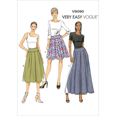 Vogue Pattern V9090 Misses Skirt 9090 Image 1 From Patternsandplains.com