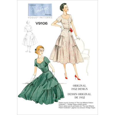 Vogue Pattern V9106 Misses Dress and Belt 9106 Image 1 From Patternsandplains.com