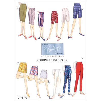 Vogue Pattern V9189 Misses Shorts and Tapered Pants 9189 Image 1 From Patternsandplains.com
