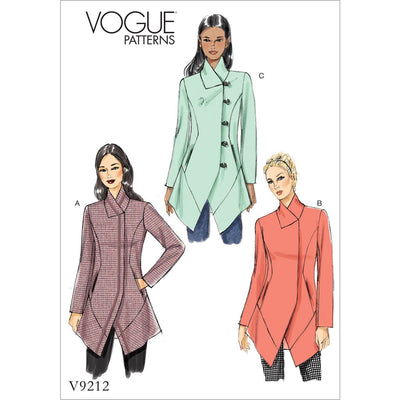 Vogue Pattern V9212 Misses Seamed and Collared Jackets 9212 Image 1 From Patternsandplains.com