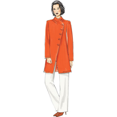 Vogue Pattern V9274 Misses Asymmetrical Lined Jacket and Pull On Pants 9274 Image 3 From Patternsandplains.com.jpg