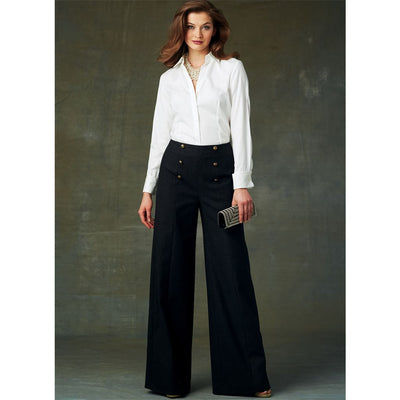 Vogue Pattern V9282 Misses High Waisted Pants with Button Detail 9282 Image 2 From Patternsandplains.com.jpg