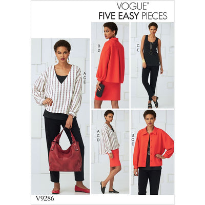 Vogue Pattern V9286 Misses Tops Straight Skirt and Pants 9286 Image 1 From Patternsandplains.com
