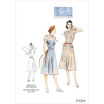 Vogue Pattern V9294 Misses Dress 9294 Image 1 From Patternsandplains.com