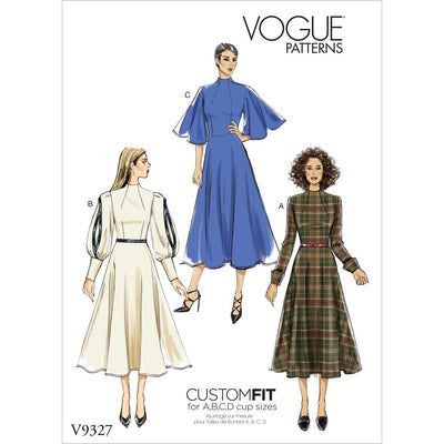 Vogue Pattern V9327 Misses Dress 9327 Image 1 From Patternsandplains.com
