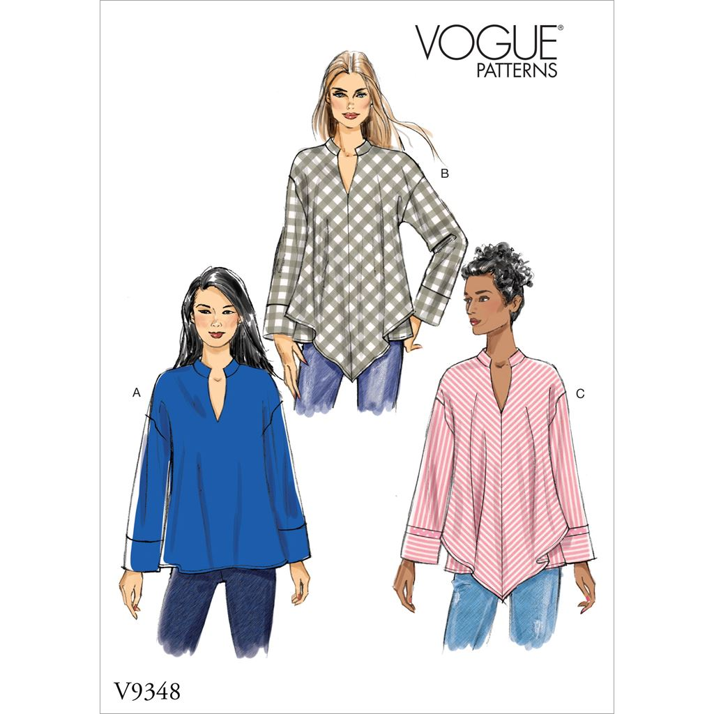 Vogue Pattern V9348 Misses Top 9348 Image 1 From Patternsandplains.com