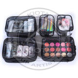 KIOTA - Professional Cosmetic Organizer with Semi-Transparent Compartments for Make Up Tools, Toiletry, Jewelry, Handy Accessories - Aptlee Designs
