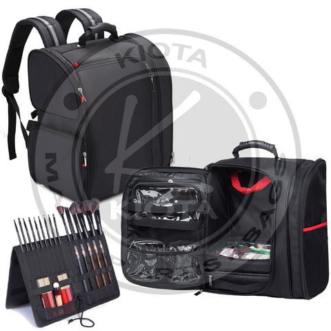 KIOTA - Deluxe Professional Makeup Artist Storage Backpack - Aptlee Designs