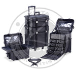 KIOTA - Professional Makeup Artist 2 in 1 Rolling Makeup Case with clear carrying bag sets - Aptlee Designs