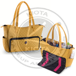 KIOTA - Quilted Shoulder Beauty Bag With Brush Storage - Aptlee Designs