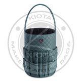 KIOTA - Quilted Fabric Soft Sided Makeup Tote Bag / Bucket - Aptlee Designs