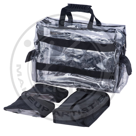 KIOTA - Ultimate Makeup Artist Clear Set Bag with Removable Pouches - Aptlee Designs