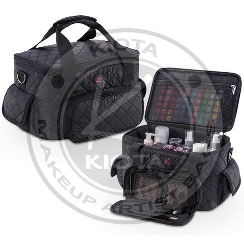 KIOTA - Quilted Makeup Artist Cosmetic Travel Bag - Aptlee Designs