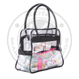 KIOTA - Large Clear PVC Makeup Artist Travel Set Bag (Black) - Aptlee Designs