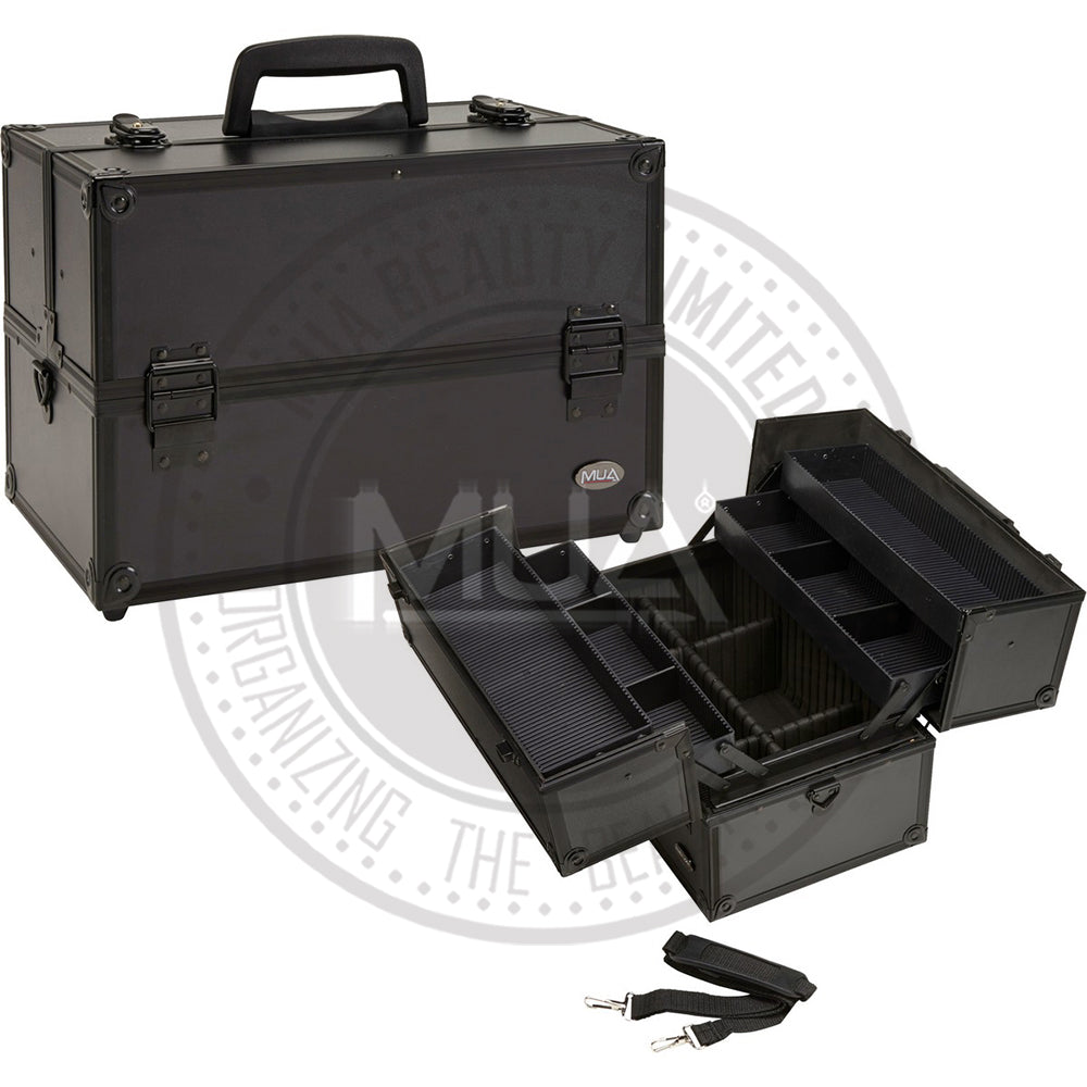MUA - Professional Makeup Artist Cosmetic Train Case w/ Extendable Trays