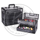 KIOTA - Nail Polish Makeup Train Case with Clear Panel Top - Aptlee Designs
