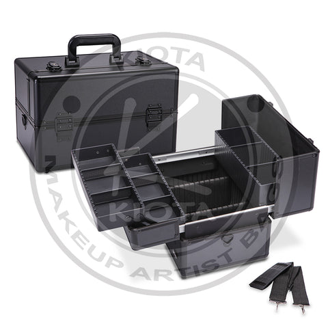 KIOTA - Professional Cosmetic Train Case with Removable/Adjustable Dividers - Aptlee Designs