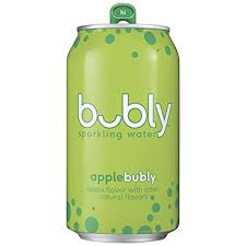 bubly Sparkling Water Apple 12oz. cans 24 per case