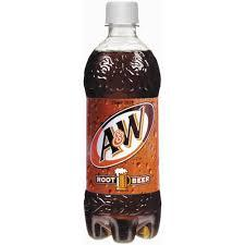 A&W Root Beer 20oz. bottles 24 per case