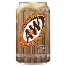 A&W Root Beer 12oz. cans 24 per case
