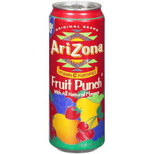 Arizona Fruit Punch 23oz. cans 24 per case