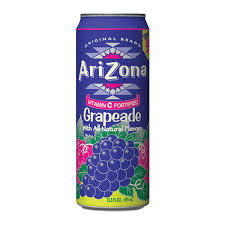 Arizona Grapeade 23oz. cans 24 per case