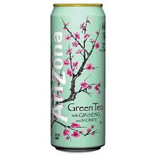 Arizona Green Tea with Ginseng and Honey 23oz. cans 24 per case