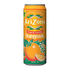 Arizona Orangeade 23oz. cans 24 per case