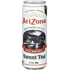 Arizona Real Brewed Sweet Tea 23oz. cans 24 per case
