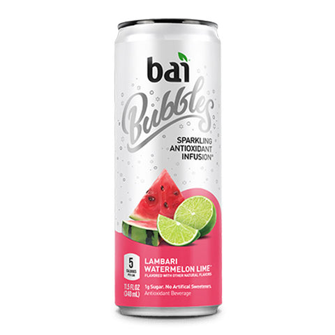 Bai Bubbles Lambari Watermelon Lime 11.5oz. cans 24 per case