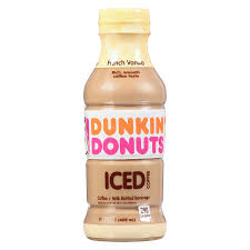 Dunkin Donuts Coffee French Vanilla 13.7oz. bottles 12 per case