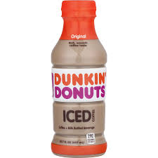 Dunkin Donuts Coffee Original 13.7oz. bottles 12 per case