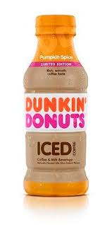 Dunkin Donuts Coffee Pumpkin Spiced 13.7oz. bottles 12 per case
