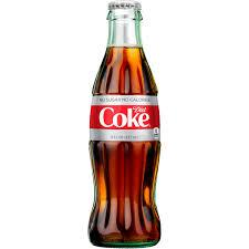 Diet Coke 8oz. glass bottles 24 per case