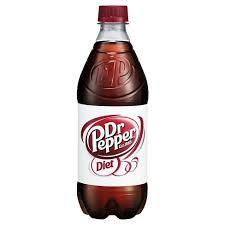 Diet Dr. Pepper 20oz. bottles 24 per case