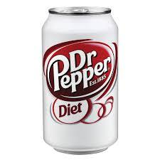 Diet Dr Pepper 12oz. cans 24 per case