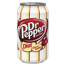 Diet Dr Pepper Cherry Vanilla 12oz. cans 24 per case