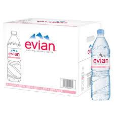 Evian Water 1.5 Liter bottles 12 per case